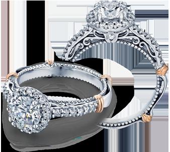 PARISIAN-123R - a Verragio engagement ring.