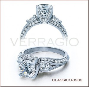 classico 0282 diamond engagement ring from verragio - Million Dollar Wedding Rings