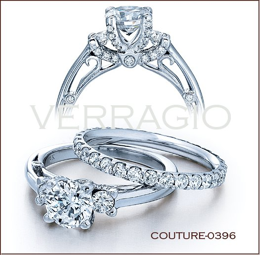 couture 0396 diamond engagement ring from verragio - Diamond Wedding Rings For Her