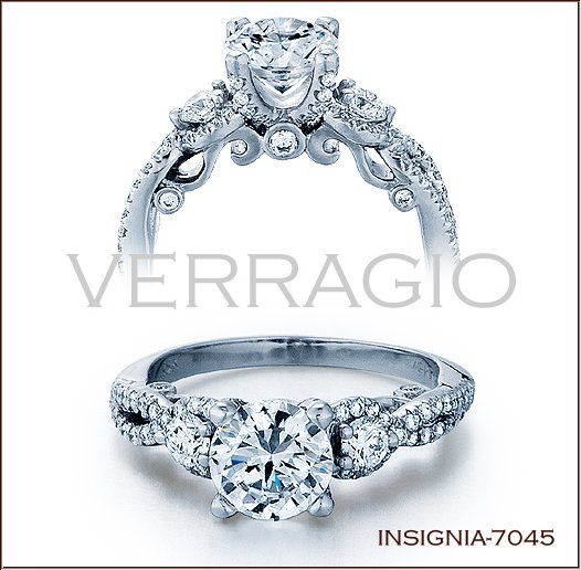 insignia 7045 diamond engagement ring from verragio - Verragio Wedding Rings