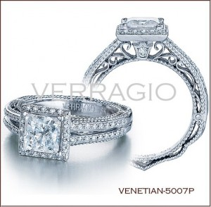 venetian 5007p diamond engagement ring from verragio - Big Diamond Wedding Rings