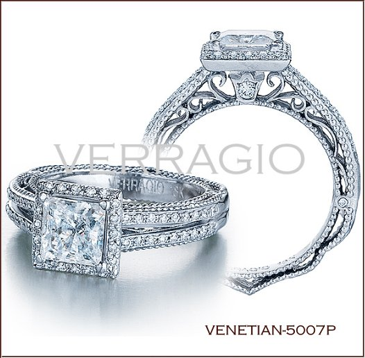 venetian 5007p diamond engagement ring from verragio - Wedding Rings Expensive
