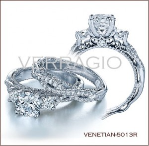 Venetian-5013R diamond engagement ring from Verragio