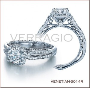 Venetian-5014R diamond engagement ring from Verragio
