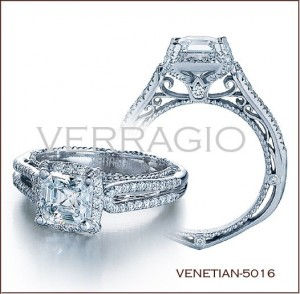 Venetian-5016 diamond engagement ring from Verragio