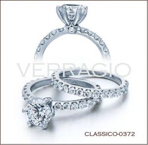 CLASSICO-0372 diamond engagement ring from Verragio