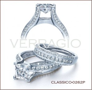 Classico-0262P diamond engagement ring from Verragio