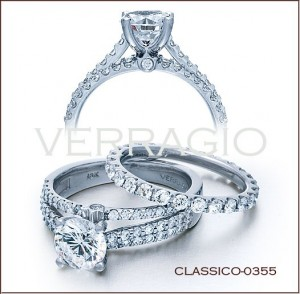 Classico-0355 diamond engagement ring from Verragio