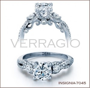 Insignia-7045 diamond engagement ring from Verragio