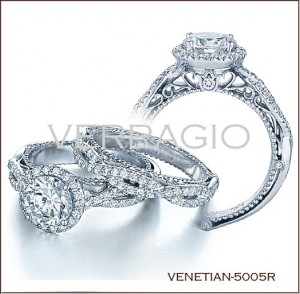 Venetian-5005R diamond engagement ring from Verragio