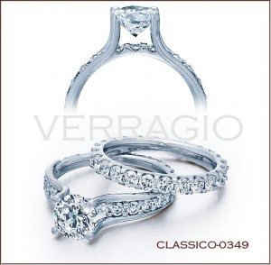 Classico-0349 diamond engagement ring from Verragio