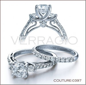 Couture-0397 diamond engagement ring from Verragio