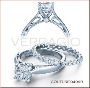 Couture-0409R diamond engagement ring from Verragio
