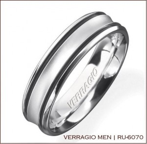 Mens Wedding Ring from Verragio: RU-6070