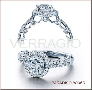 Paradiso-3006R diamond engagement ring from Verragio