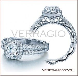 Venetian-5007CU diamond engagement ring from Verragio