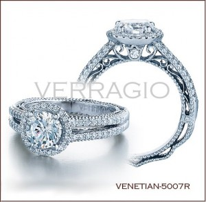 Venetian-5007R diamond engagement ring from Verragio