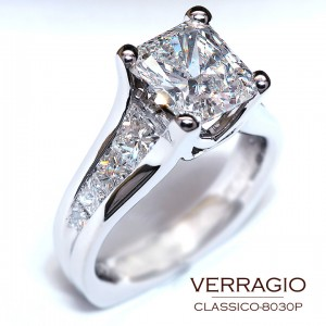 Classico-8030P engagement ring from Verragio