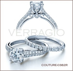 Couture-0382R diamond engagement ring from Verragio
