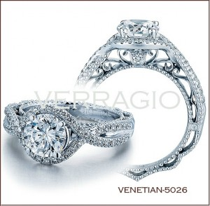 Venetian-5026 diamond engagement ring from Verragio