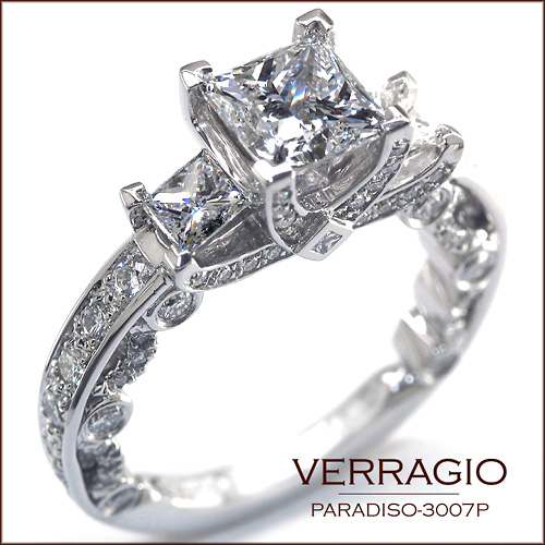 paradiso 3007p verragio engagement rings - Verragio Wedding Rings