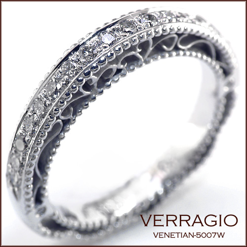 Venetian-5007W - Matching wedding band to Venetian-5007 engagement ring