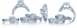 Engagement rings and wedding bands from the Verragio Collection