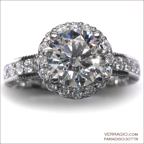 Custom engagement ring from the Paradiso Collection: 3077R