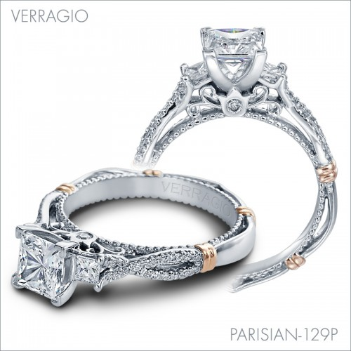 Parisian Engagement Rings: 129P