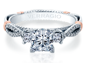 PARISIAN-129P - a Verragio engagement ring.