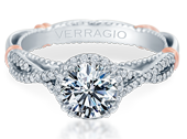 PARISIAN-106R - a Verragio engagement ring.