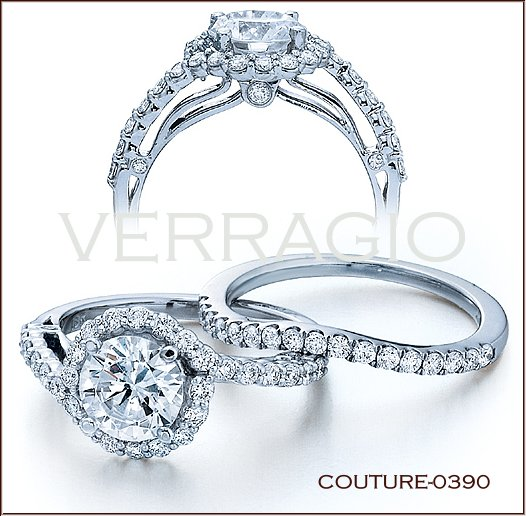 Couture 0390 Diamond Engagement Ring From Verragio