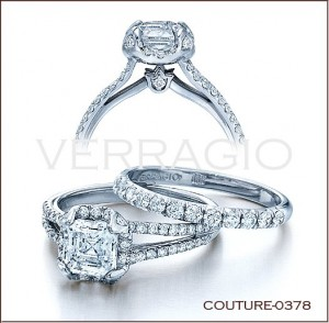 Couture-0378 diamond engagement ring from Verragio