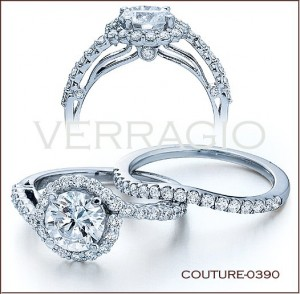 Couture-0390 diamond engagement ring from Verragio
