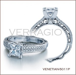 Venetian-5011P diamond engagement ring from Verragio