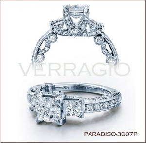 Paradiso-3007P diamond engagement ring from Verragio