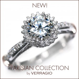 New engagement rings from the new Parisian Collection.